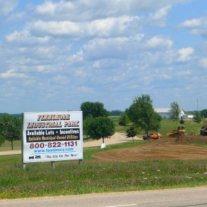 Industrial Park Lots sign