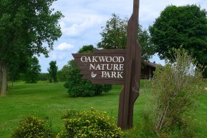 Oakwood Nature Park sign