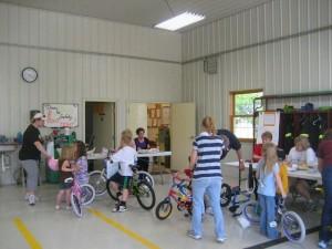 Optimist Club bike safety day for kids
