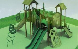 Arborvitae Park playground equipment fundraising project