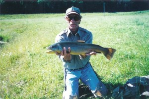 Jim Romberg - Trout Fishing Guide with Brown Trout