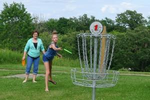 Disc Golf course at Oakwood Park