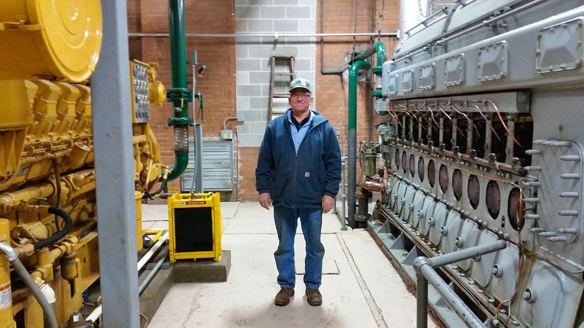 Diesel Plant Operator Bob Reynolds