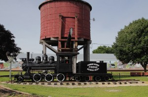 Dinky engine and water tower