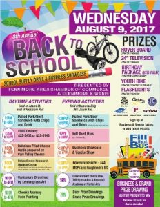 2017 Back to School Showcase poster