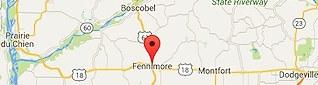 Fennimore WI map