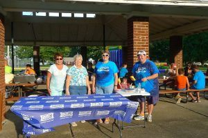 Community volunteers at National Night Out