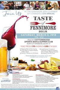 2018 Taste of Fennimore poster