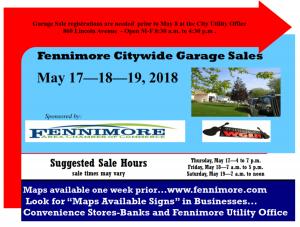 2018 Citywide Garage Sales poster