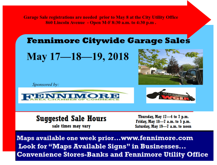 2018 citywide garage sales poster