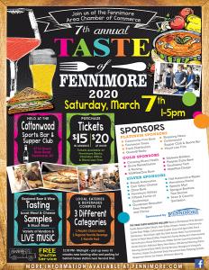 Taste of Fennimore 2020 Poster