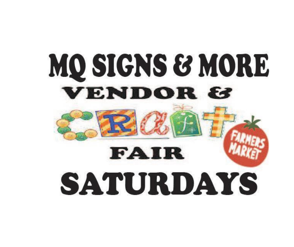 Plan to attend a vendor and craft fair and farmer's market at MQ Signs & More in Fennimore Wisconsin.