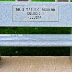 Dr. & Mrs. E.G. Aguilar Bench
