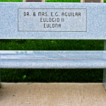 Dr. & Mrs. E.G. Aguilar Bench