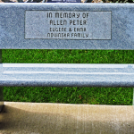 In Memory of Allen Peter Bench
