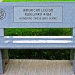 American Legion Auxiliary #184 Bench