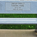 Larson Family Funeral Home Bench